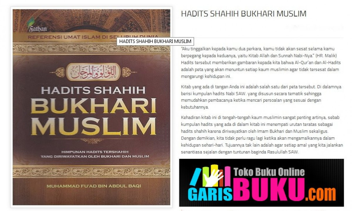 Hadits Shahih Bukhari Muslim Other Languages Languages Open