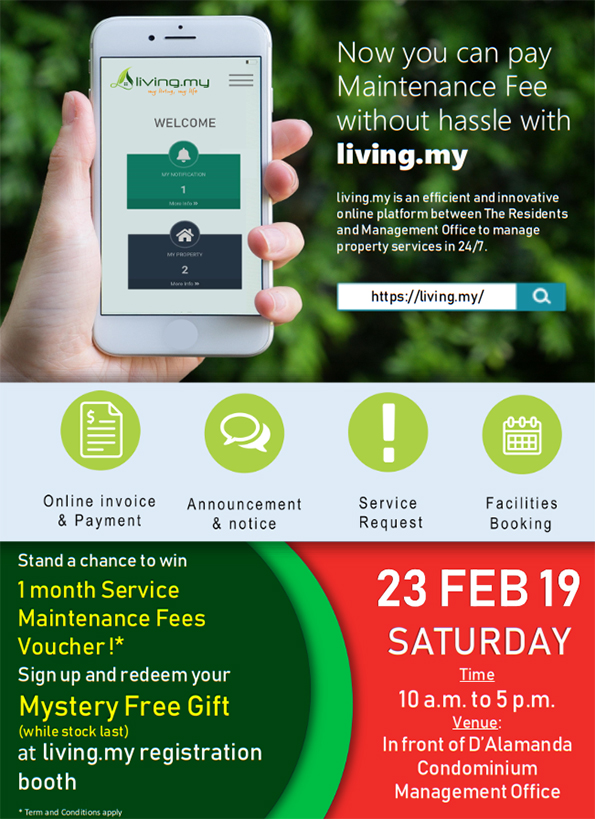 Living.my : Pay your Maintenance Fee without hassle - anytime, anywhere!