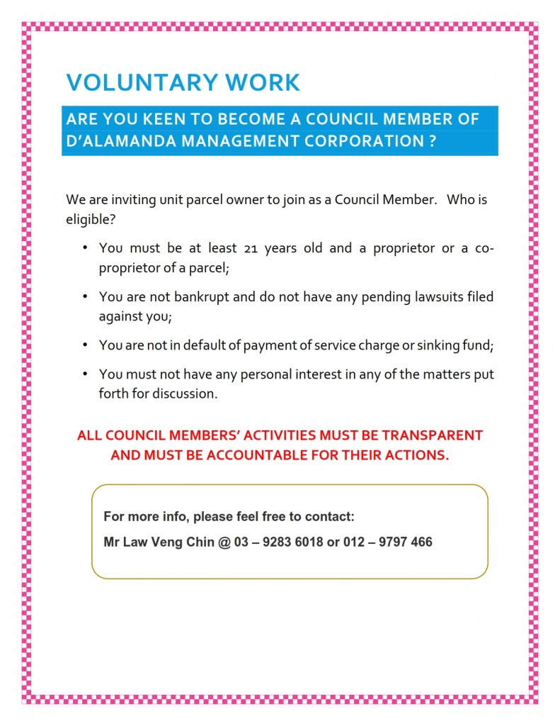 Council Member - Invitation Notice