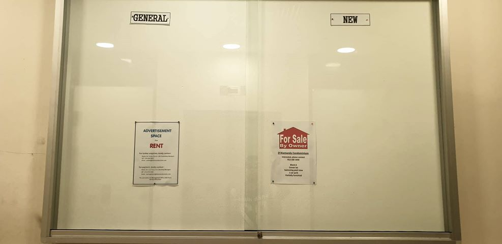 Notice Board - Advertisement Space For RentNotice Board - Advertisement Space For Rent