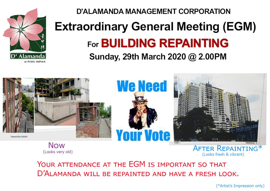 NOTICE : Extraordinary General Meeting (EGM) for Repainting Project